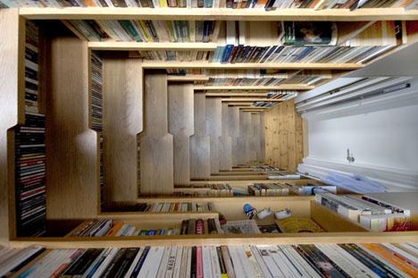 Escaleras de libros