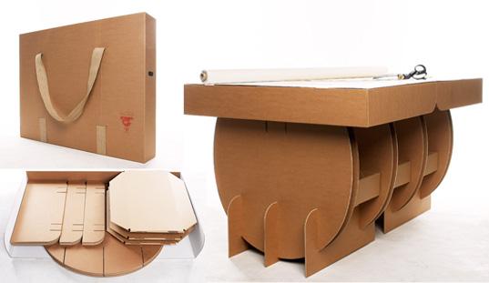 Mesa ecol gica de cart n - Mesas de carton ...
