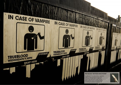 En caso de vampiros, arranque una estaca