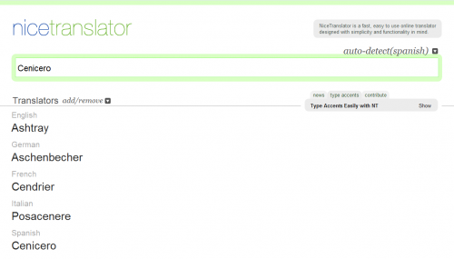 Nice Translator - El mejor traductor en línea