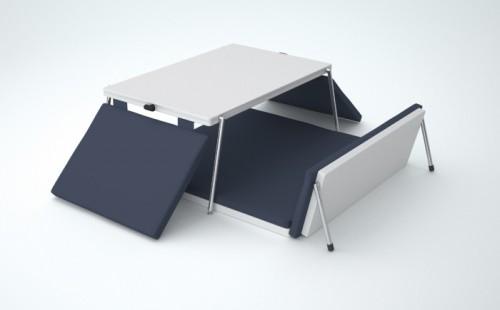 Mueble modular para trabajar c modamente en el piso for Mesa para comer en la cama