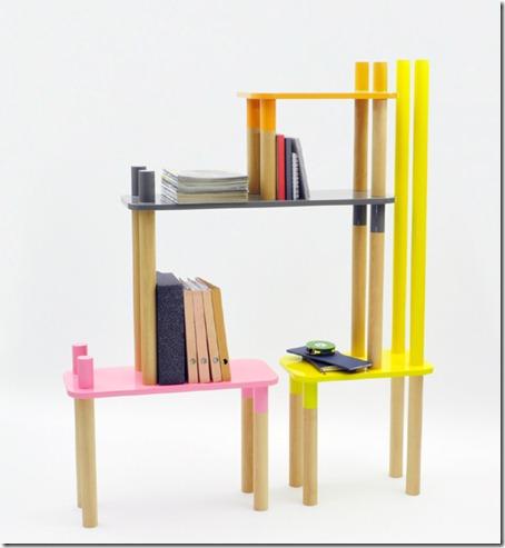 Welcome to the Jungle: Muebles Modulares Infantiles de Rui Alves (Biblioteca)