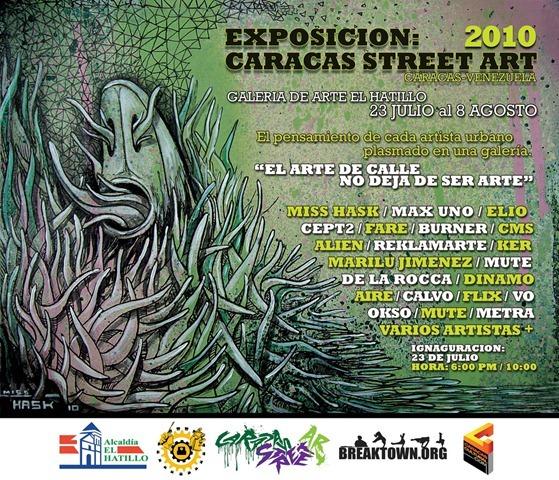 Caracas Street Art 2010 - Flyer