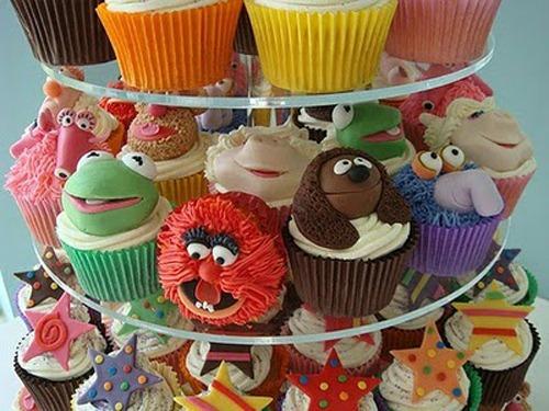 Pasteles Cupcakes de los Muppets