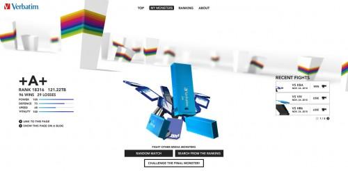 Verbatim Championship: Juego flash online de robots 3D