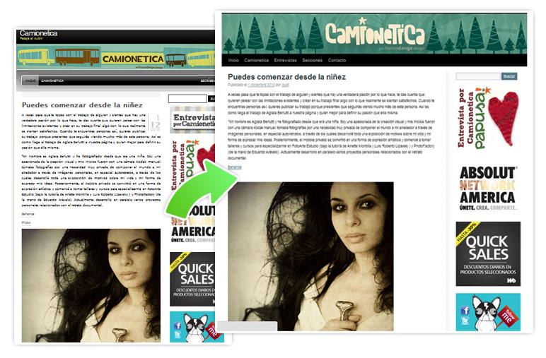 Nuevo diseño de Camionetica.com