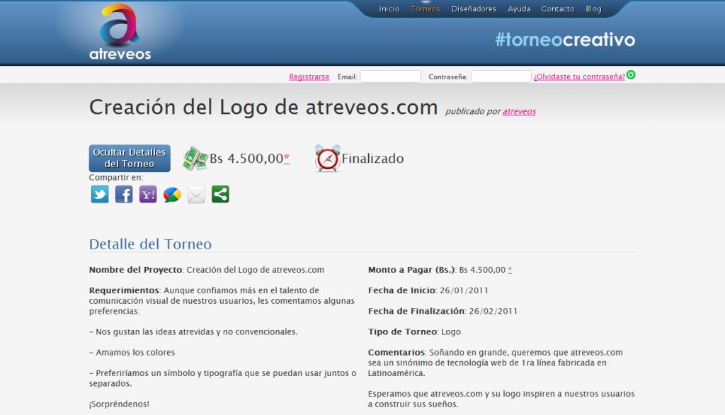 Atreveos.com - Concurso de Diseño de Logotipo