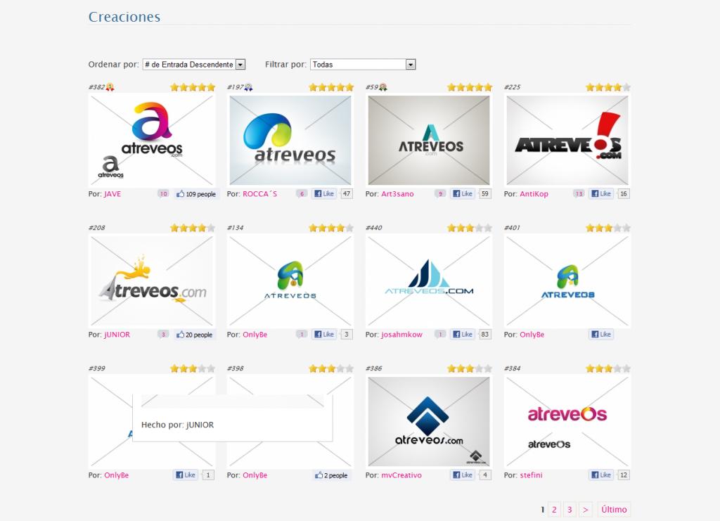 Atreveos.com - Propuestas Concurso de Diseño de Logotipo