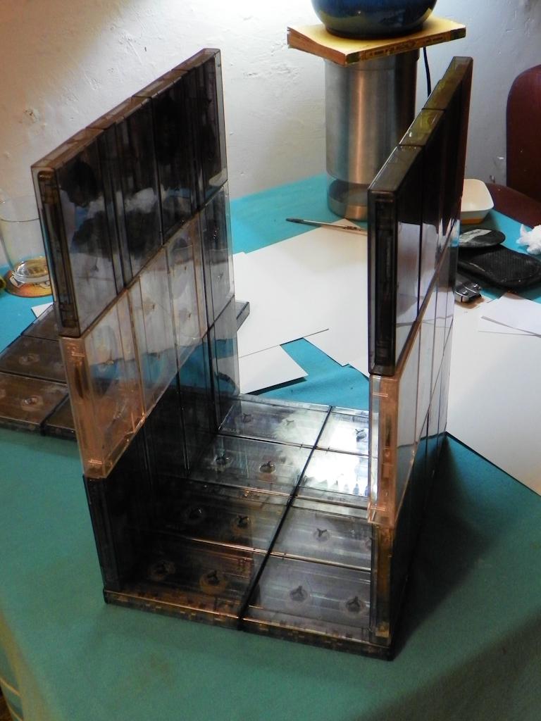 Tutorial Lámpara de Cassettes: Pegado final