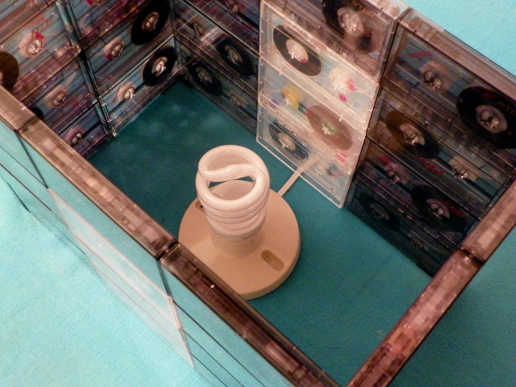Tutorial Lámpara de Cassettes: colocando la instalación eléctrica