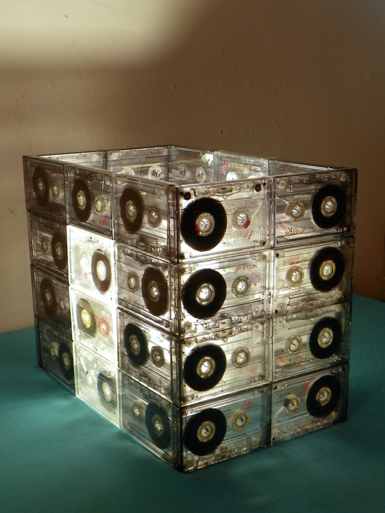 Lámpara de Cassettes DIY