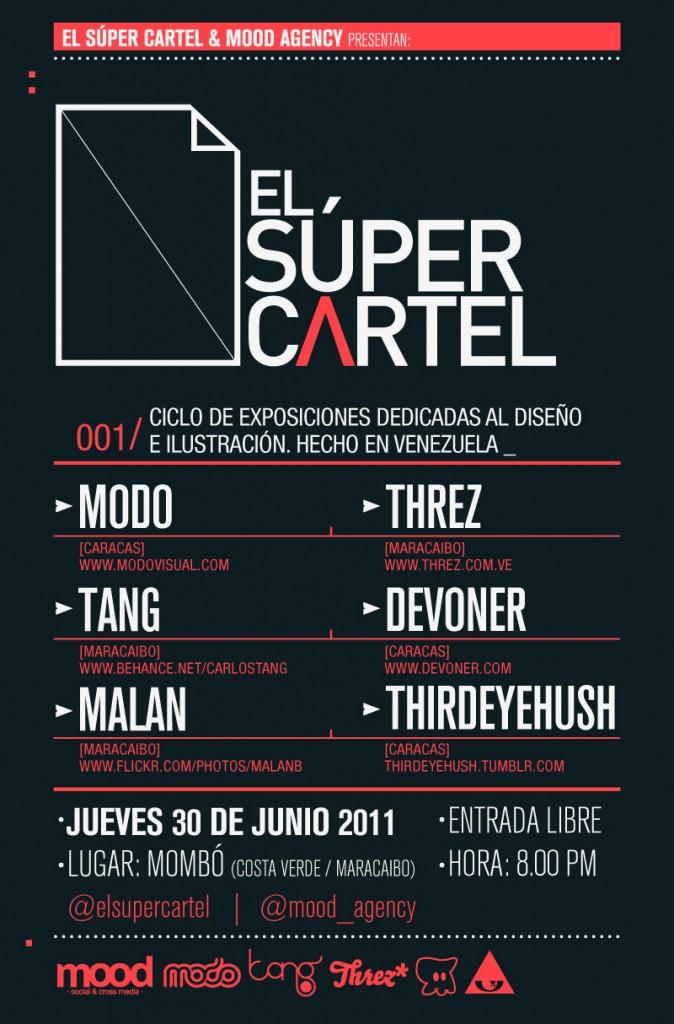 El Súper Cartel: Ciclo de Exposiciones dedicada al Diseño e Ilustración hecho en Venezuela