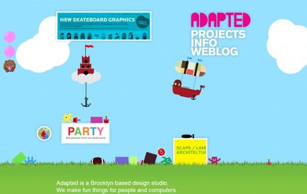 Adapted Design Studio, sitio web Flash interactivo 2009