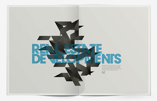 Brochure para SZ Developments por Design Has No Name