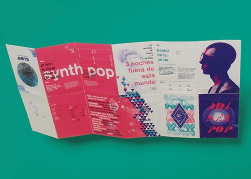 Identidad Visual para 1er Festival Internacional de Synth Pop por Patricio Murphy