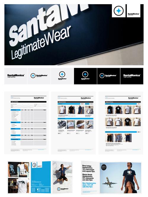 Dirección de Arte para la marca de ropa SantaMonica por Mark Brooks
