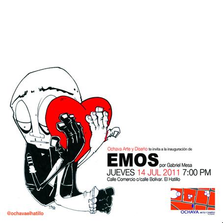 """Exposición """"Emos"""" de Gabriel Mesa. Galería Ochava Arte y Diseño"""