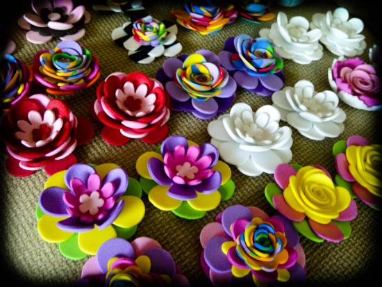 Flores foami para mama - Imagui