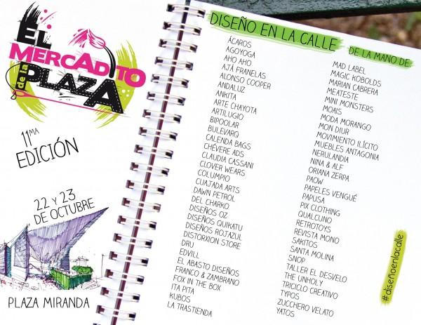 Participantes El Mercadito de la Plaza XI