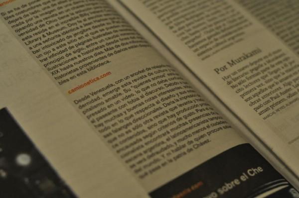 Reseña de Camionetica.com en la Revista Ñ del Diario Clarín