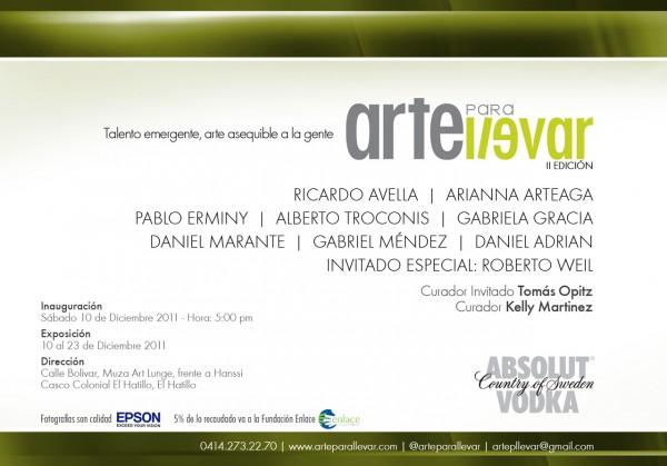 Exposición Arte para Llevar 2da Edición, Muza Art Lounge, El Hatillo