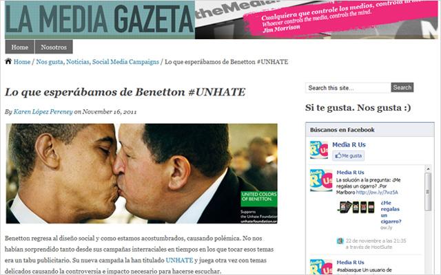 Benetton #UNHATE