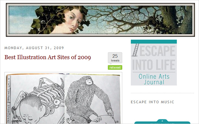 Best Illustration Art Sites of 2009