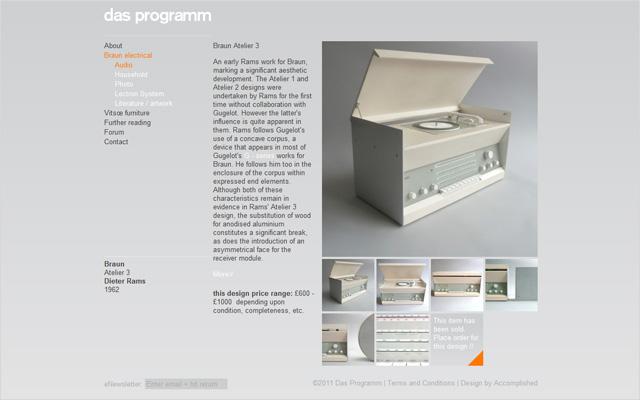 Das Programm (Tienda Dieter Ramms)