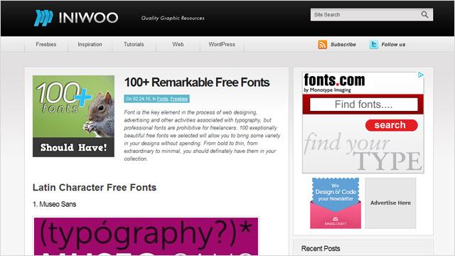 100 Fuentes Tipográficas para Descargar Gratis
