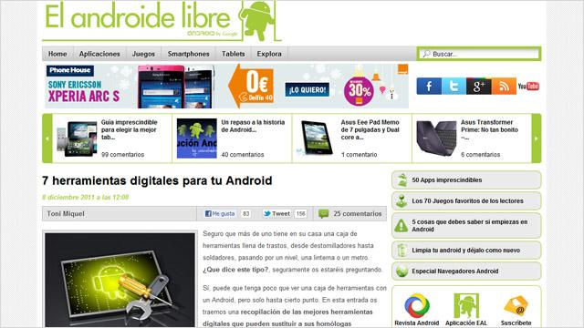 7 apps: Caja de herramientas digital para Android