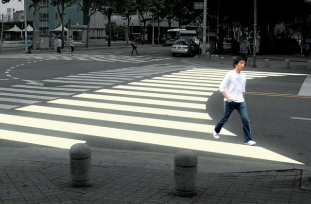 Jae Min Lim: Ergo Crosswalks (paso de cebra ergonómico)