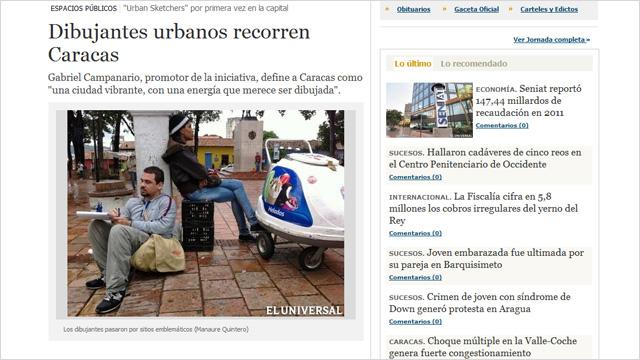 Urban Sketchers en Caracas Venezuela