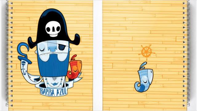 Cuaderno Pirata por Burundanga Design