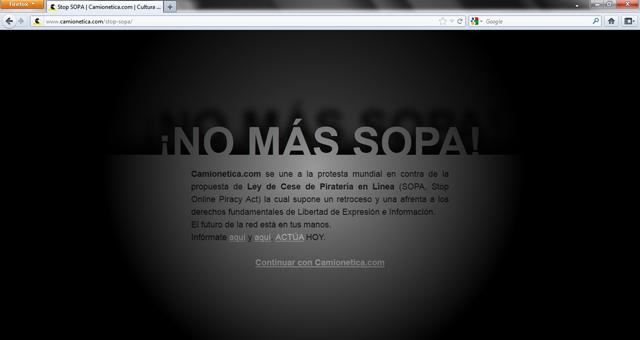 #SOPASTRIKE Camionetica