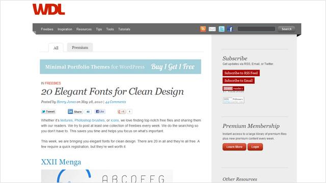 20 fuentes elegantes para diseños limpios