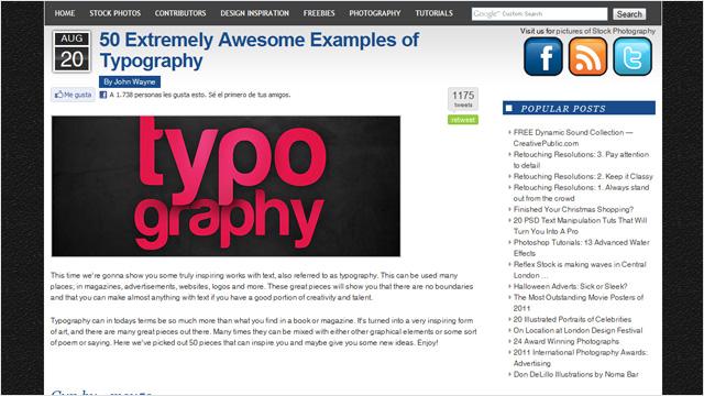 50 composiciones tipográficas