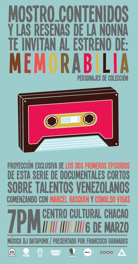 Memorabilia: Marcel Rasquin y Oswaldo Vigas, 6 Marzo 2012 Centro Cultural Chacao