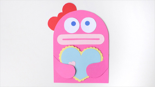 Monstruo de papel DIY para San Valentín