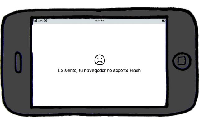 Recomendaciones para una Tienda Virtual - Evita el uso de Flash
