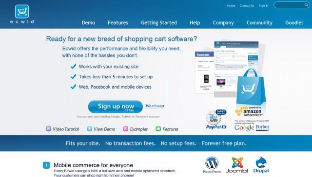 eCommerce Gratis - Ecwid