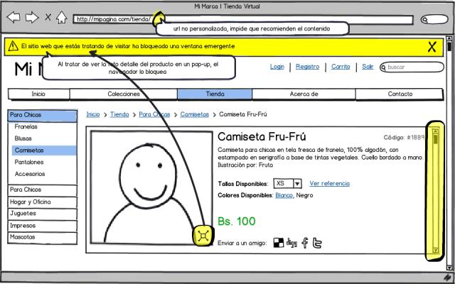 Recomendaciones para una Tienda Virtual - Evita el uso de iframes y pop-ups