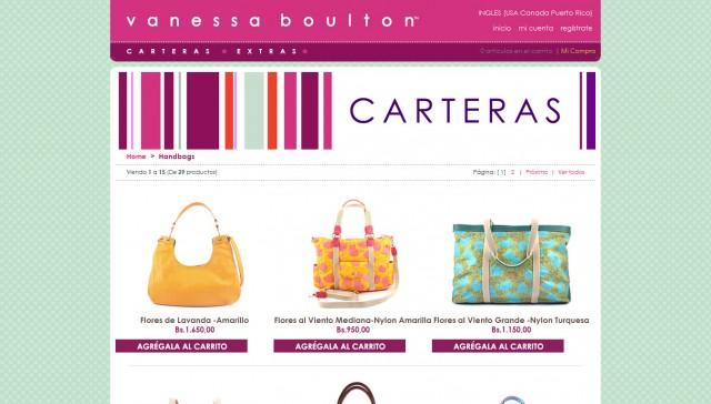 Tienda Virtual Vanessa Boulton