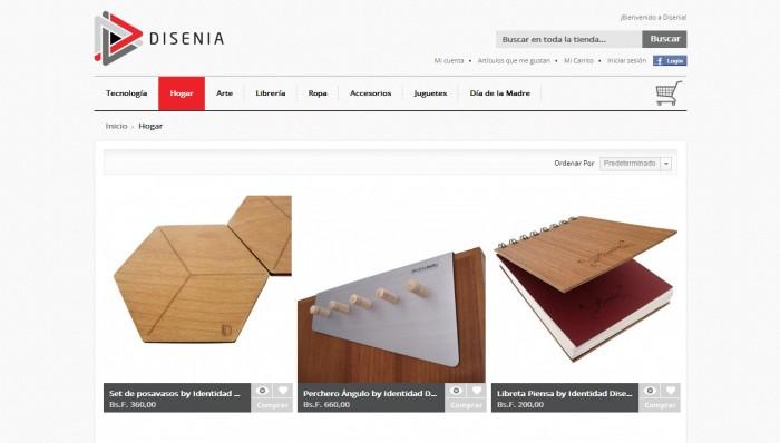 Disenia.co - Categorías: tecnología, hogar, decoración, muebles, libros, ropa, accesorios, juguetes