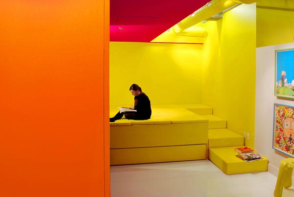 Decoración de Loft colorido de Jean Verville - Cuarto