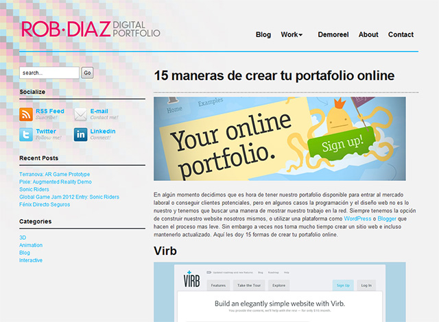 15 maneras de crear tu portafolio online
