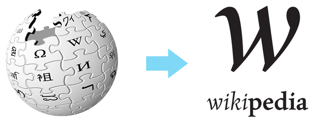 Wikipedia Redefined (Logo, antes y después)