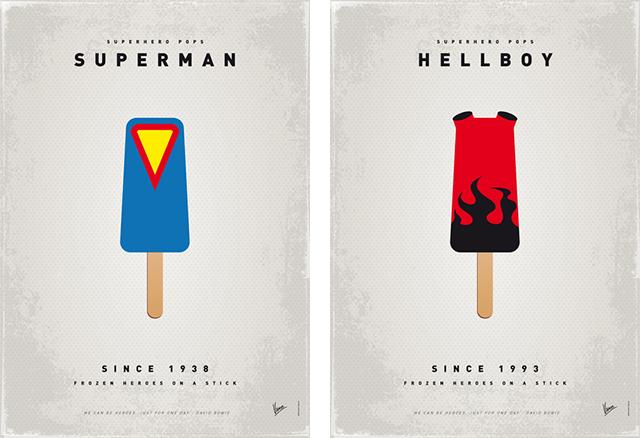 Superhero Ice Pop - Superman y HellBoy