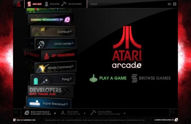 Jugar Atari Arcade - Internet Explorer