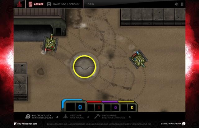Jugar Atari Arcade - Internet Explorer - Combat