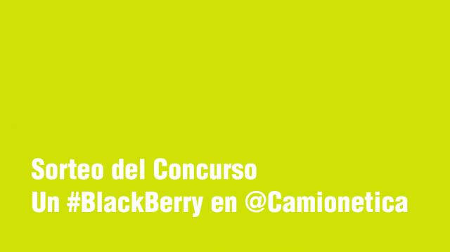 Sorteo del Concurso Un BlackBerry en Camionetica